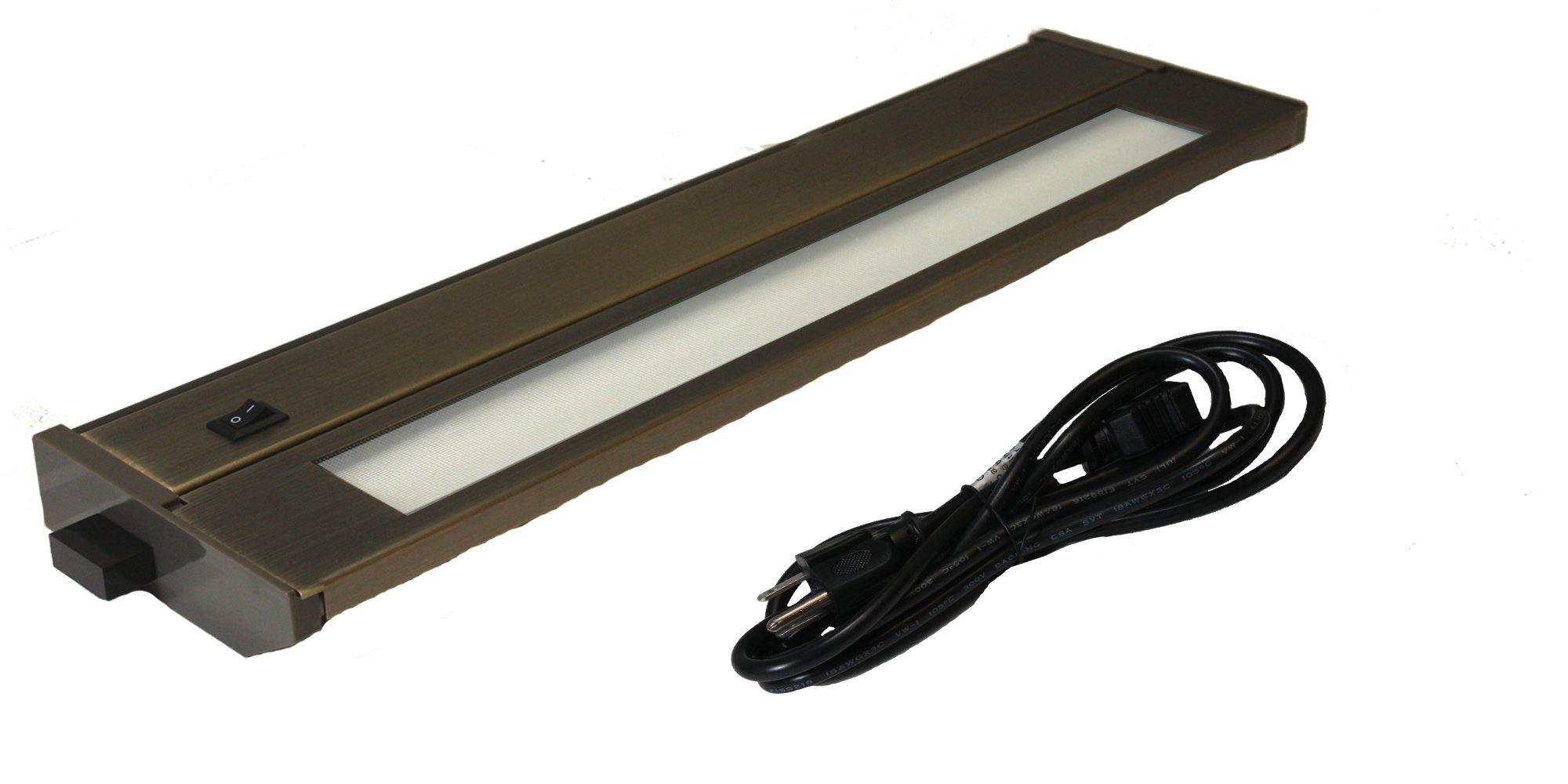 American Lighting 043X-2P-BR Xenon Under Cabinet Lighting, 14-Inch, 40-Watt Lamp, Hi/Low/Off Switch, 120-volt, 6-Foot Cord with Plug, Bronze by American Lighting (Image #1)