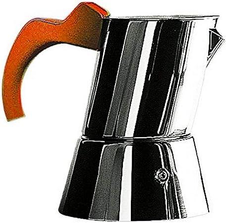 MEPRA - Cafetera (Acero Inoxidable, 1 a 3 Tazas), Color Naranja: Amazon.es: Hogar