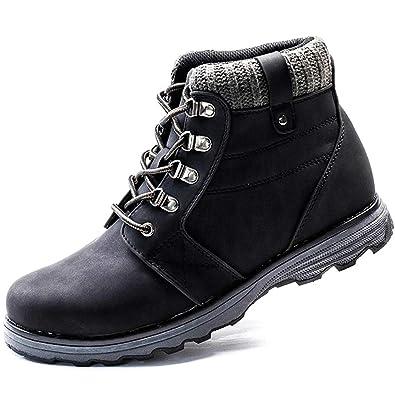 XIAO LONG Winterschuhe Herren Winterstiefel Stiefel Stiefeletten Outdoor  Boots Rutschfeste Winter Schuhe Leder Schneestiefel für Herbst 434638200e