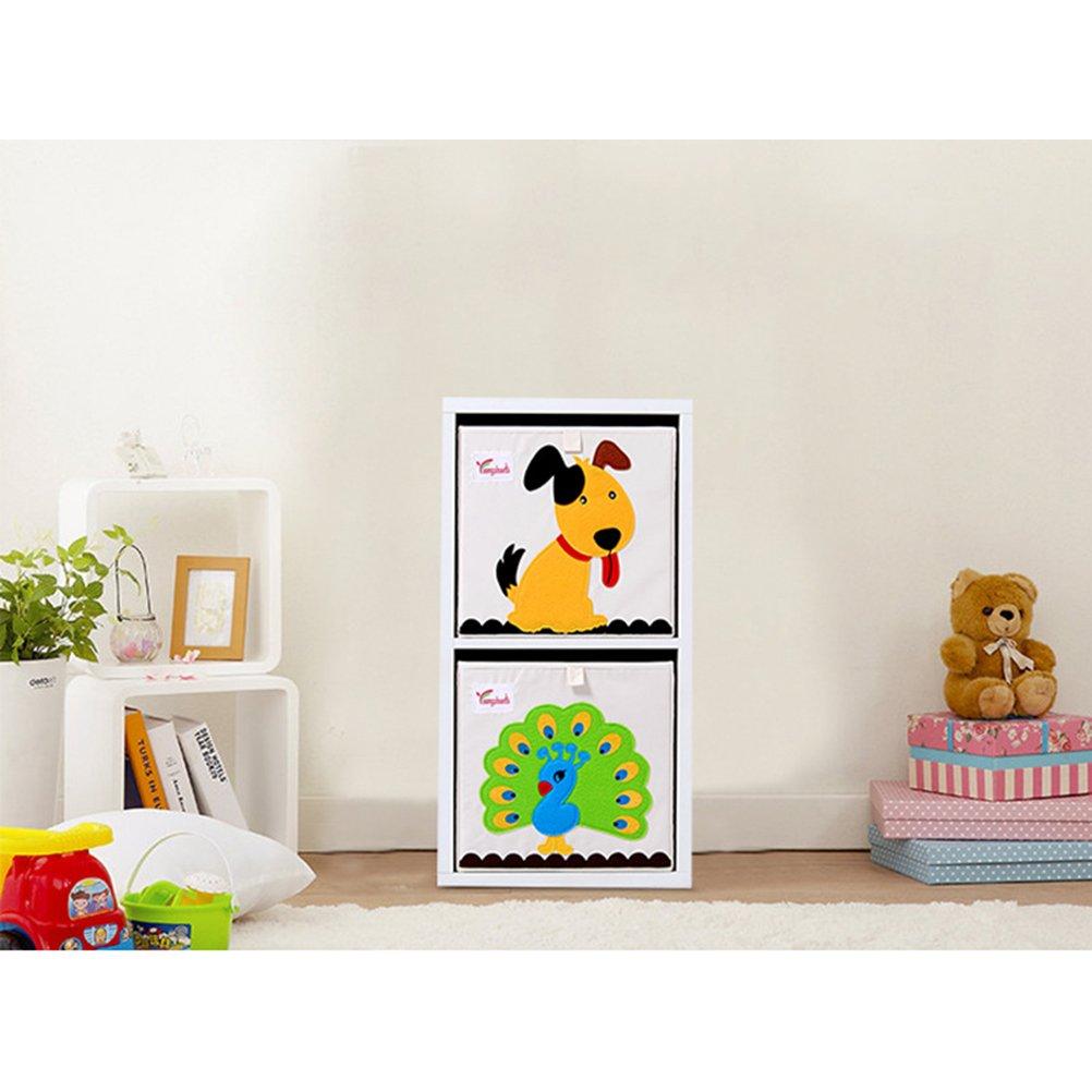 Toyvian Kinder kinderspielzeug aufbewahrungsbox ohne ohne ohne Abdeckung umweltfreundliche Wasserdichte Stoff aufbewahrungswürfel origanizer (k-waschbär) 25471a