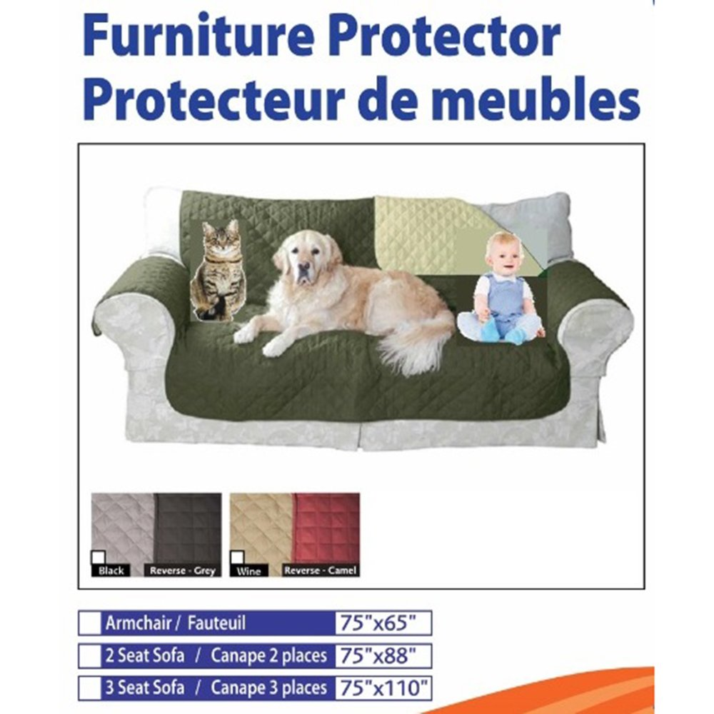 Furniture Protector Reversible (Black/Grey) (Medium) Tickle-toes