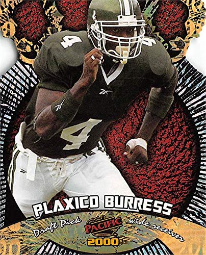 (Plaxico Burress football card (Michigan State Spartans) 2000 Pacific Gold Crown Die Cut Rookie #30)