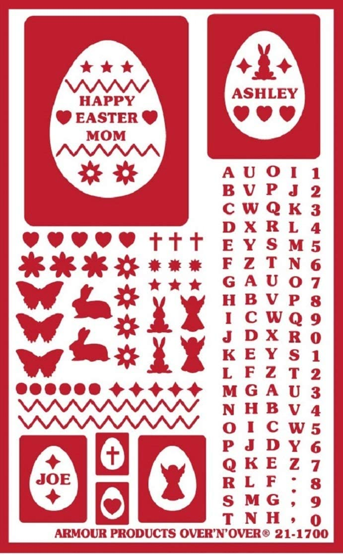 Armour Over n Over Reusable Glass Etching Stencil ~ ONO Easter Eggs