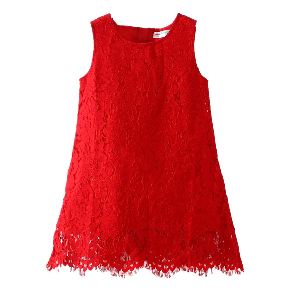 LittleSpring Little Girls' Dress Christmas Sleeveless SLZQ0355