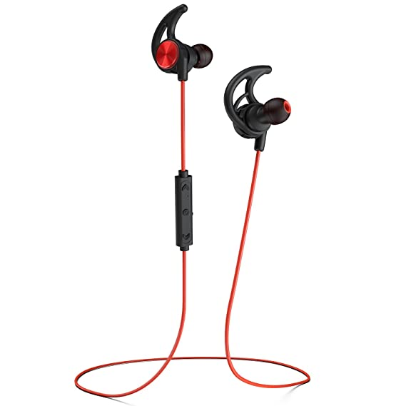 Phaiser BHS-750 Bluetooth Headphones Headset Sport Earphones with Mic and Lifetime Sweatproof Guarantee - Wireless Earbuds for Running <span at amazon