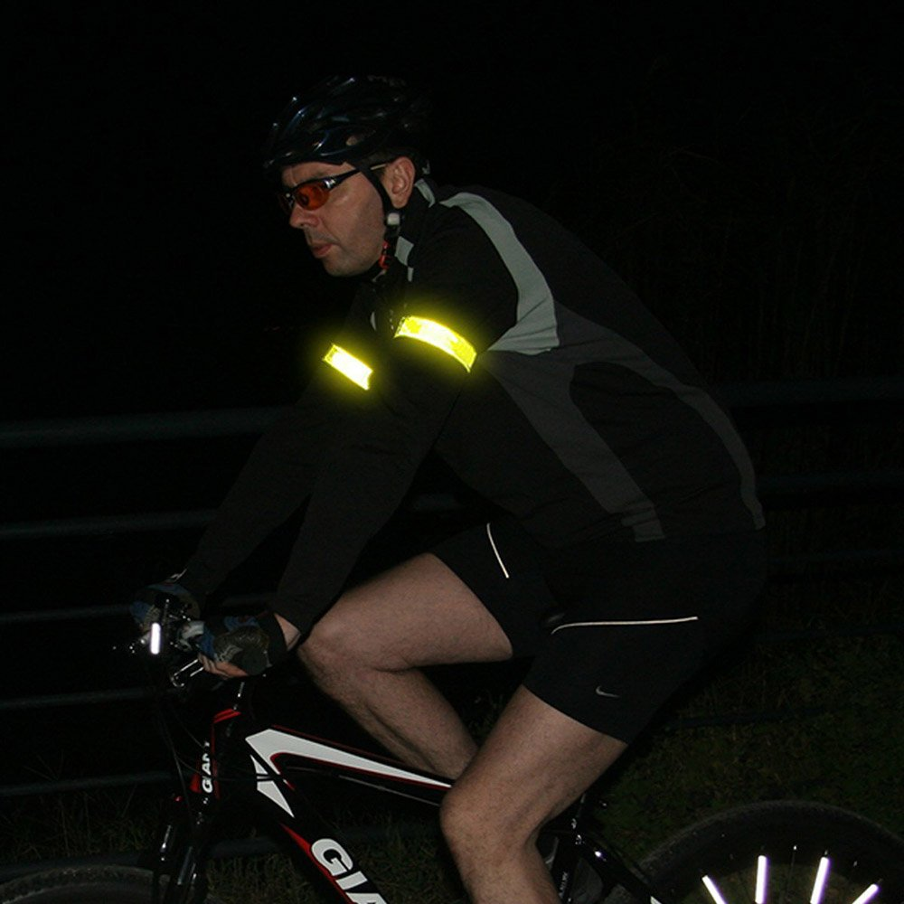 Vert vientiane Bande R/éfl/échissante Jogging,Course,/équitation,Moto,Bicyclette,Enfants 4 pi/èces S/ûret/é Bandes Lumineuses de Courroie de Signal pour Ext/érieur