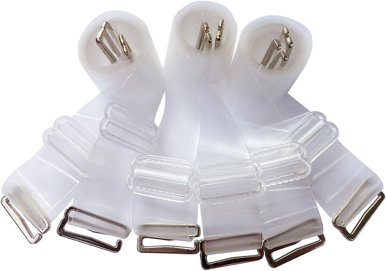 DoHope Mujer Transparente Hombro Tirantes Para Sujetador Invisible Claro Ajustables Silicona Sujetador Correas