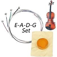 Cuerdas de violín, Conjunto Completo Universal (G-D-A-E), Núcleo de acero Níquel-plata Herida con Extremo de Bola…