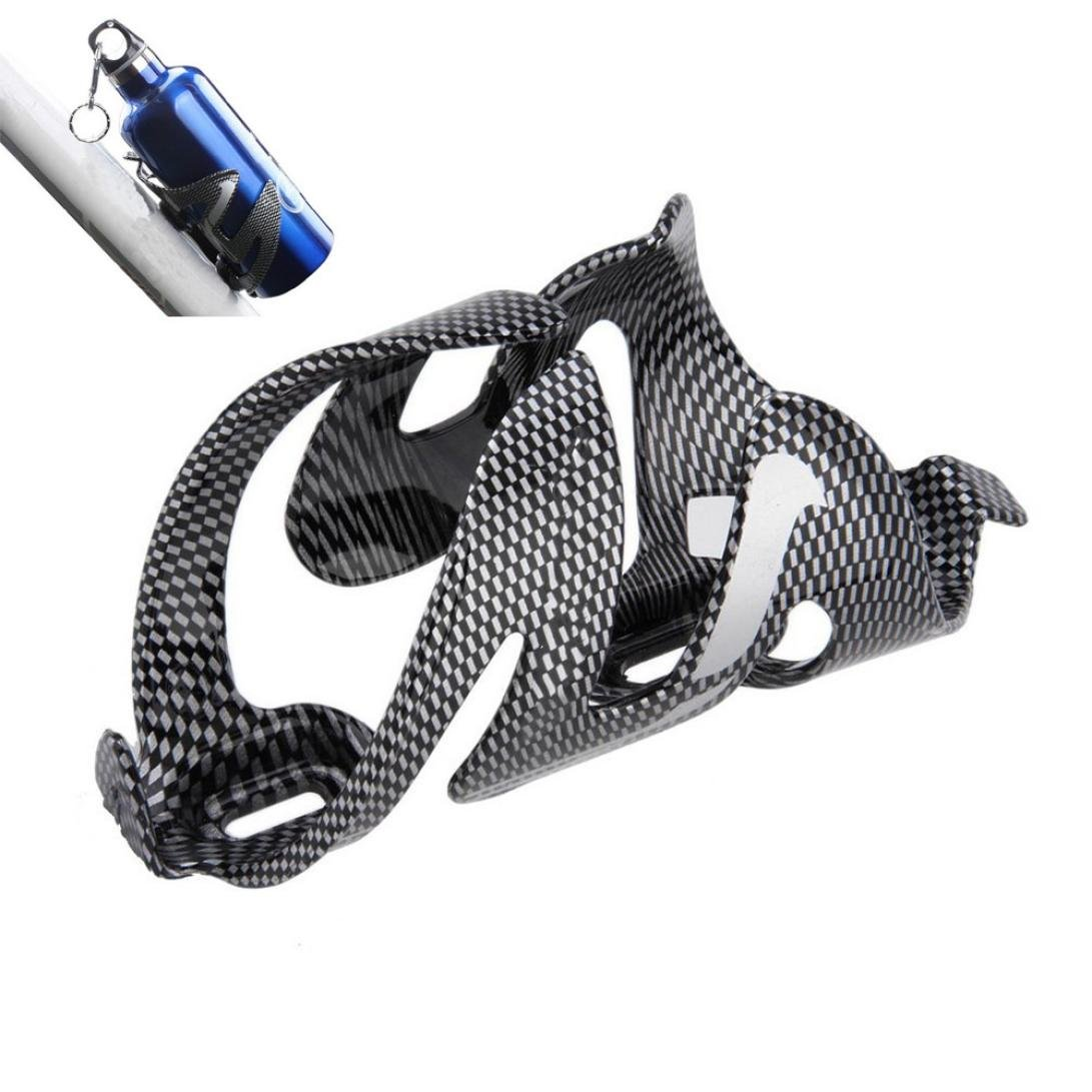 Chartsea Glass Carbon Fiber Road Bike Bicycle Cycling Water Bottle Holder Rack Cage (A)