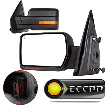 Eccp Side Mirrors Rear View Mirror Mar Mirror Tow Mirrors Replacement Fit For