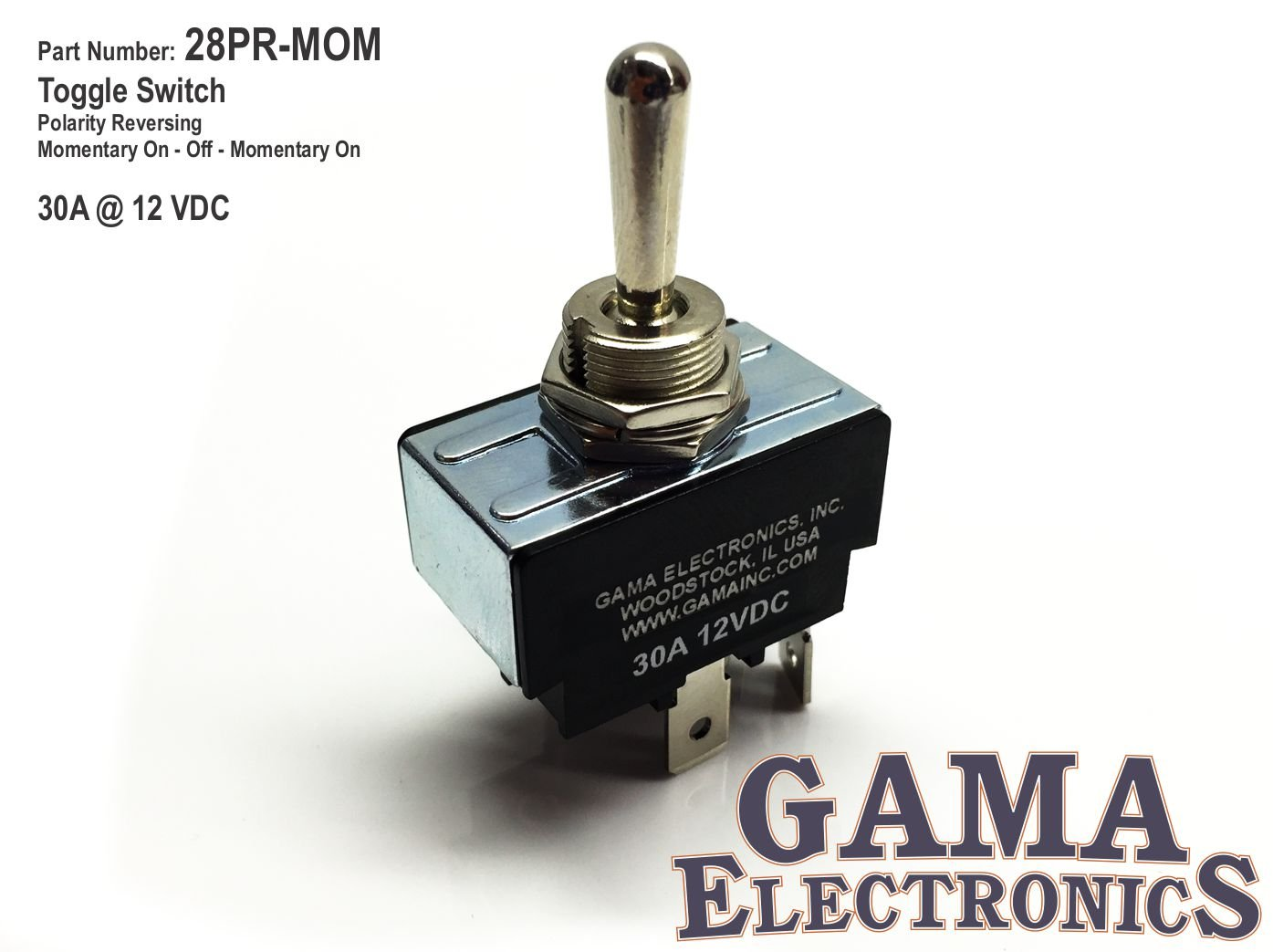 Gama Electronics 30 Amp Toggle Switch 3 Position Harbor Freight Wiring Diagram Reversing Polarity Dc Motor Control Momentary Automotive
