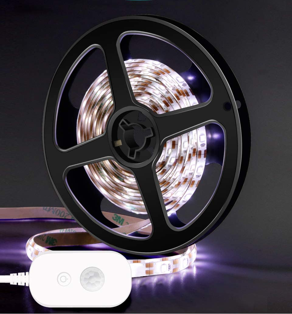 Cable inalámbrico PIR con sensor de movimiento PIR de 1 m, 2 m, 3 m, 4 m, 5 m, 5 V, 2835 LED