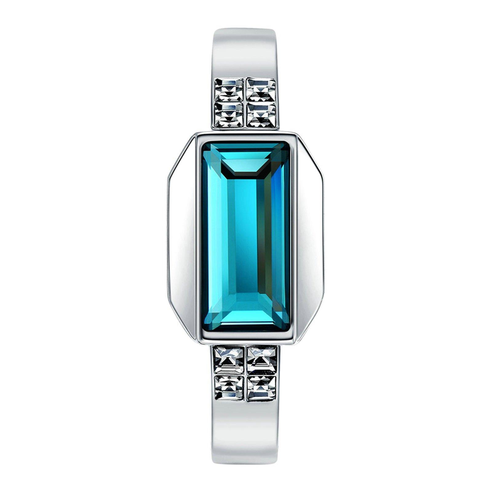 Daesar Silver Plated Bracelet for Women Charms Tear Cubic Zirconia Bracelet Silver