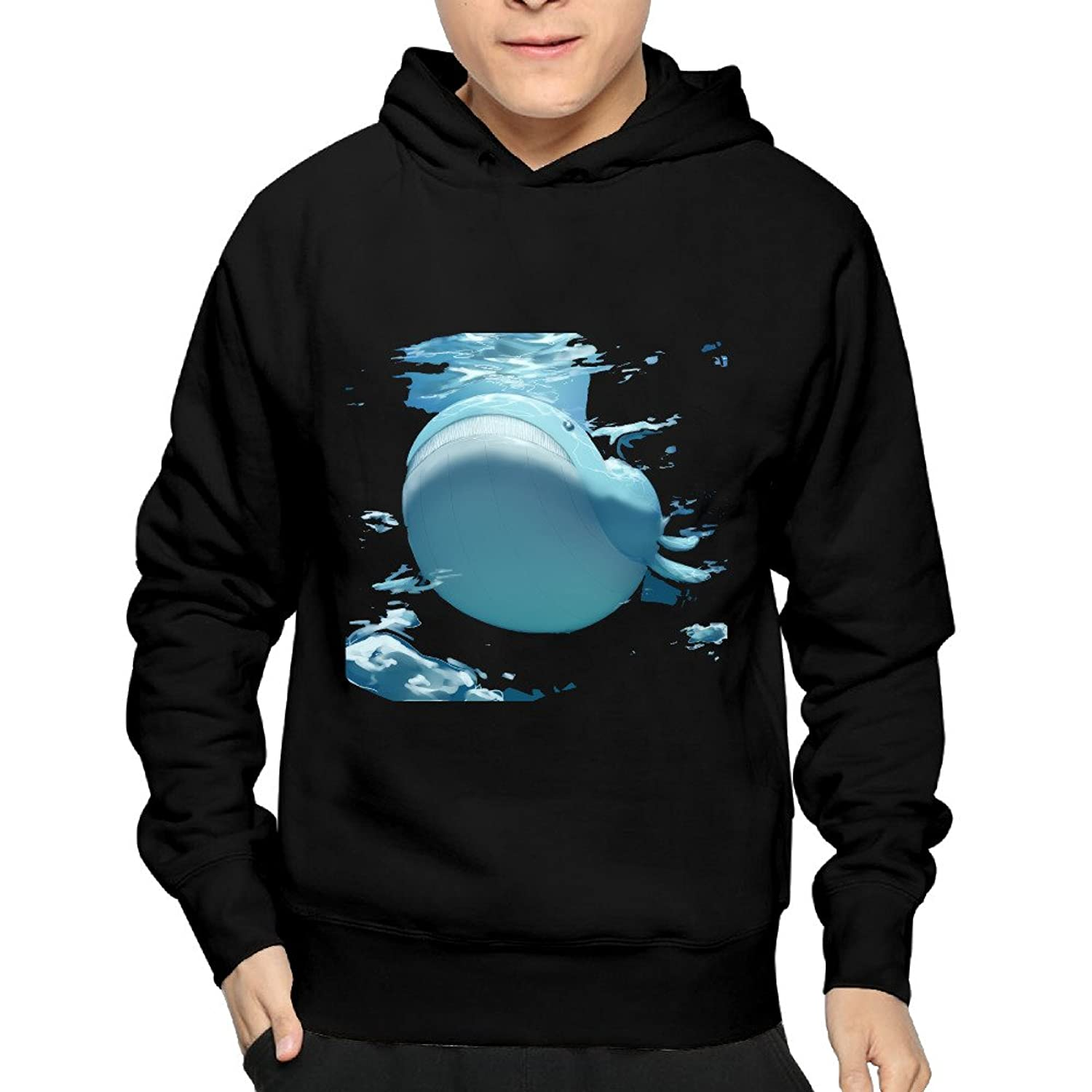 well-wreapped Pokemon Go Wailord (collab) Hooded Sweatshirt Screw Neck Mens Cute Hoodies