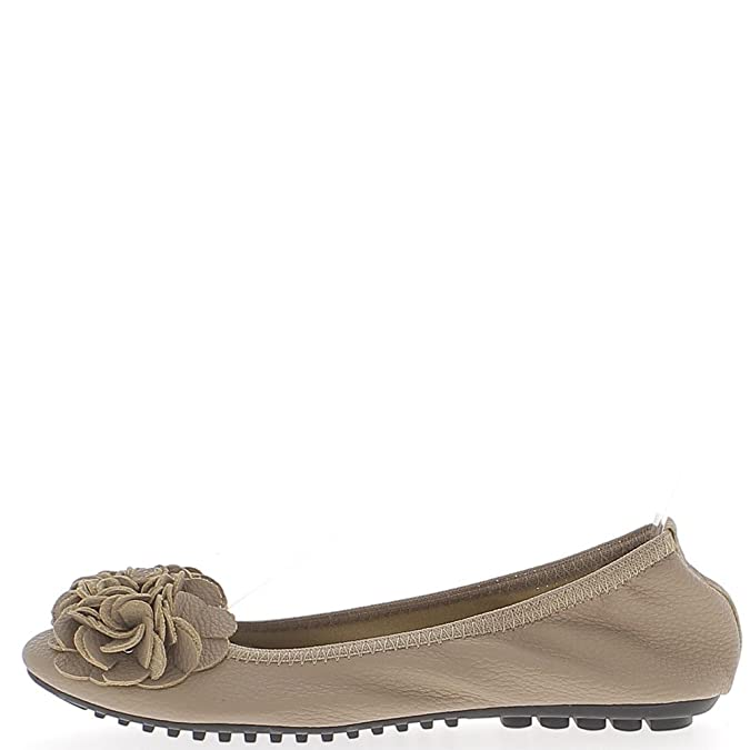 Foldable Taupe Leather With Decorative Bow Ballerinas - 8: Amazon.co.uk:  Shoes & Bags