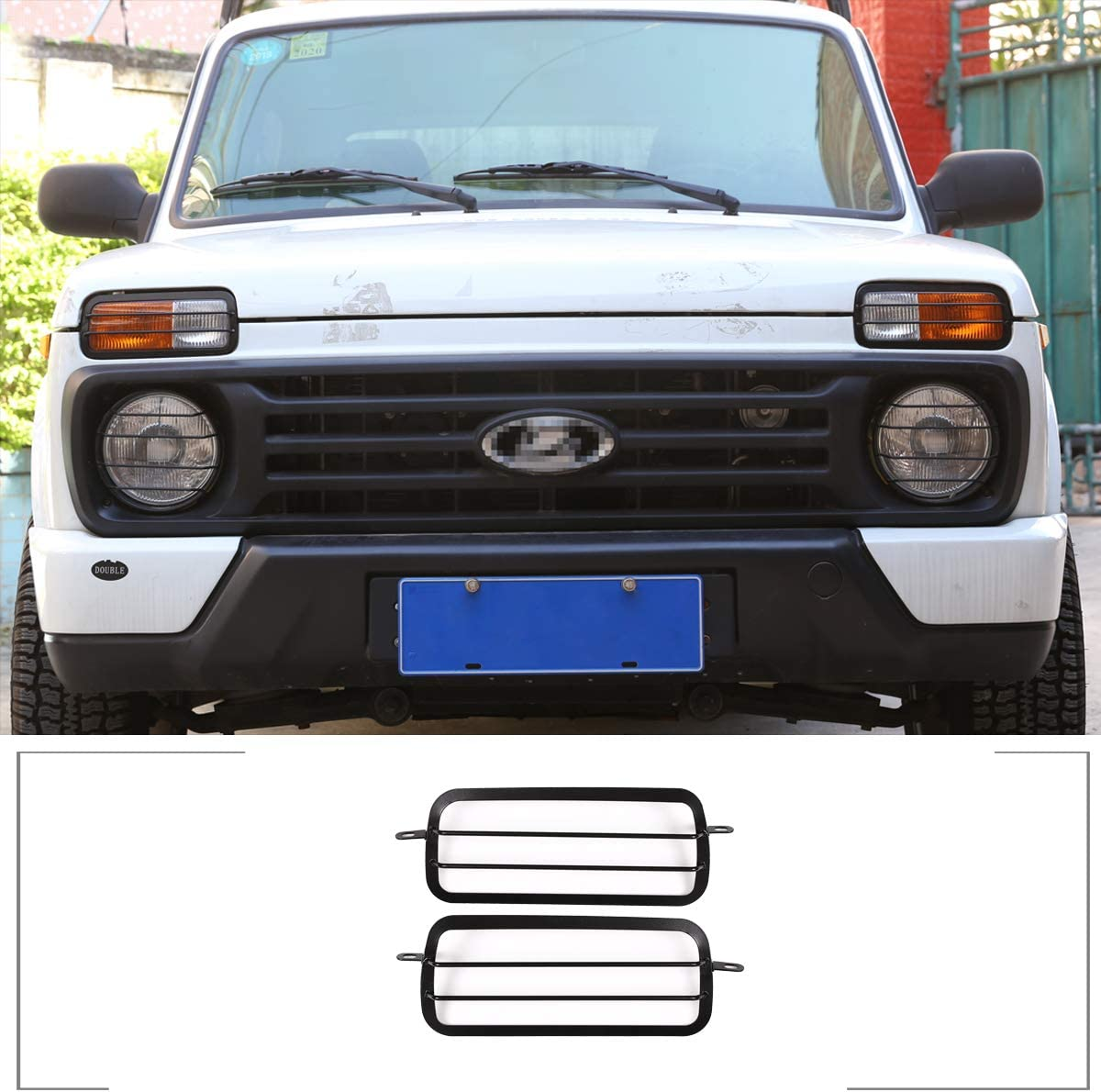 Nebelscheinwerfer Schutzrahmen Aus Aluminiumlegierung Für Niva Autozubehör 2 Stück Auto