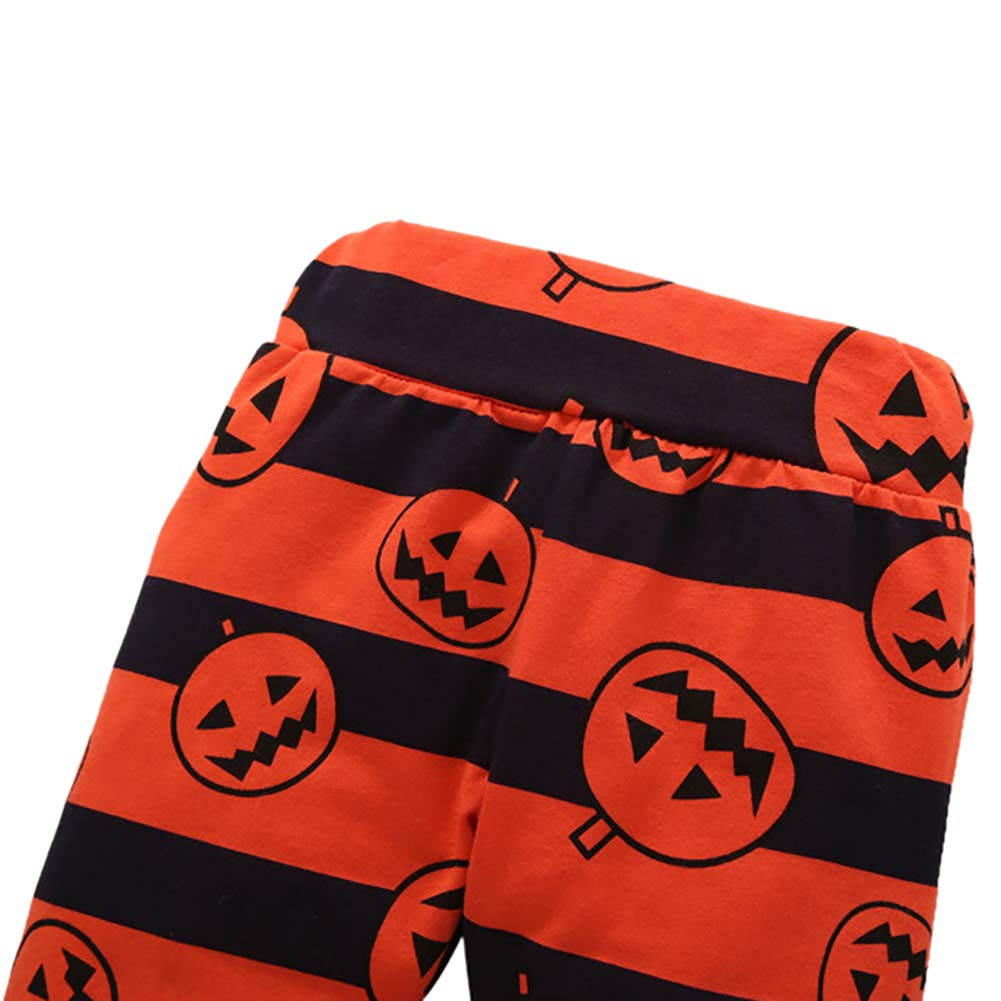 Baby Boy Girl Halloween Clothes Set Costumi di zucca Manica lunga Pagliaccetto Pantalone 3 pezzi Outfit