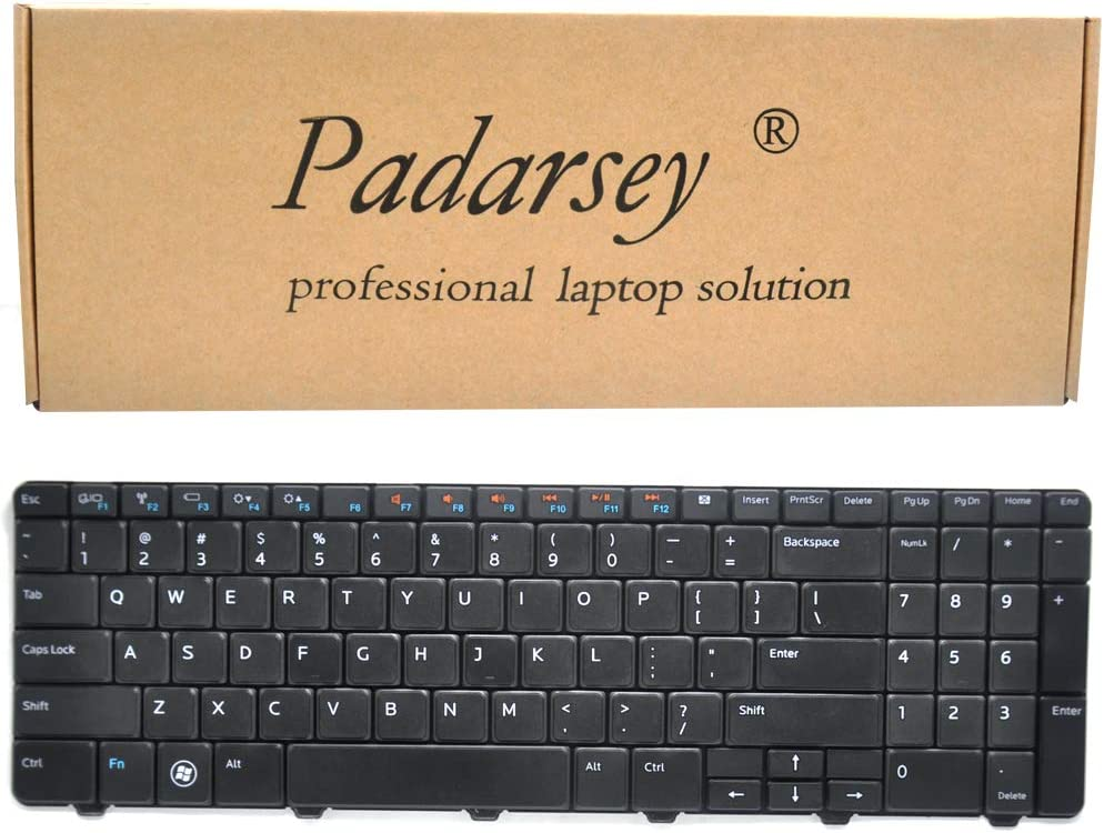 Padarsey Replacement Keyboard Compatible for Dell Inspiron 15R 5010 M5010 M501R N5010 Series Black US Layout, Compatible Part Number 09GT99 NSK-DRASW 96DJT 096DJT NSK-DRASW