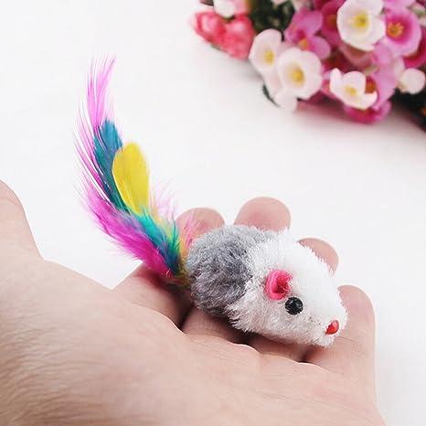 Nuevos 5pcs/lot Funny falsa ratón rata juguetes para gato gatito colorido peluche mini ratón