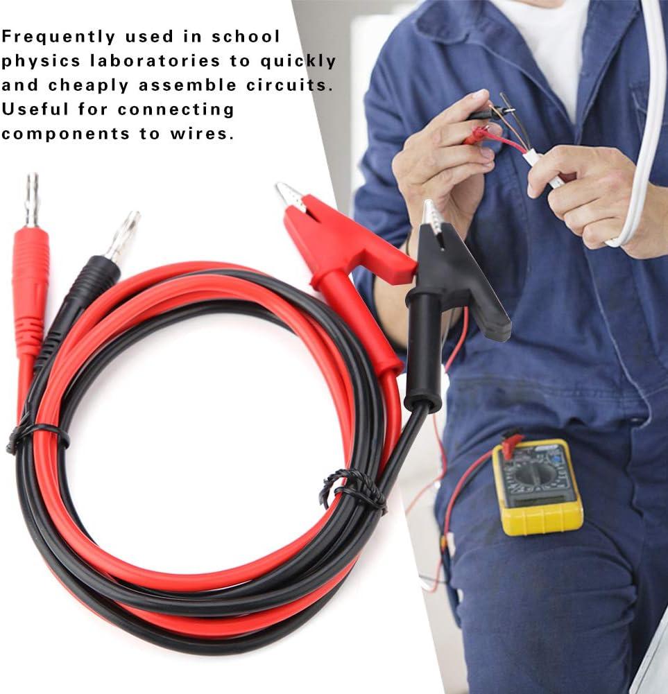 2Pcs P1040 4mm Silicone Banana Plug Crocodile Clip Test Probe Lead Testing Cables