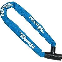 MASTER LOCK 8391EURDPROCOLB Candado, Llave, 90 cm Cadena, Azul, Electrica, Bicicleta Montaña, Unisex-Adult