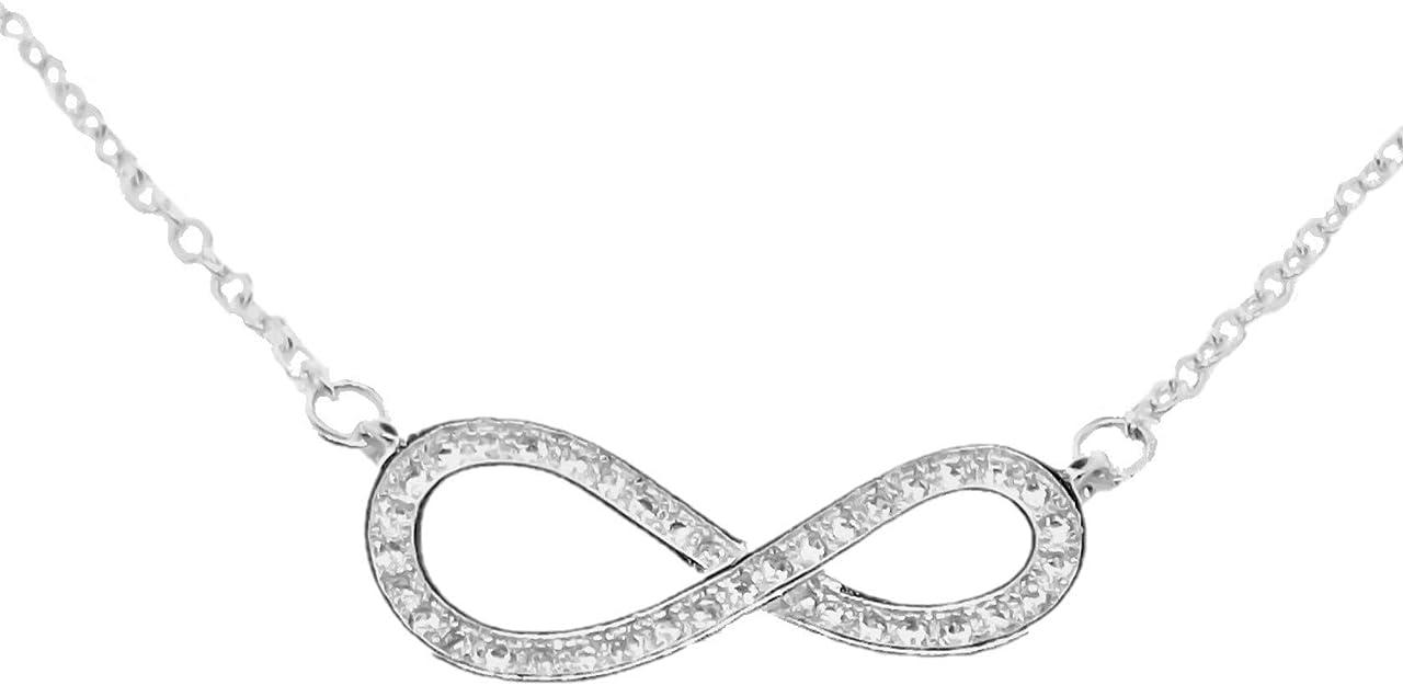Femme Infini Bracelet pour Femme Amour Ensemble Pour Toujours en Argent 925//1000 avec Oxyde de Zirconium Diamant Rond Charme Infini Cadeau de Bijoux pour La F/ête des m/ères