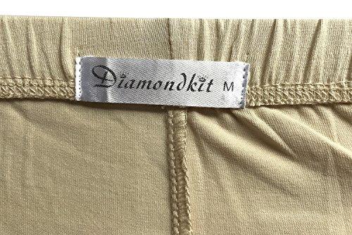 Stretch Cotton Capri Crop Leggings Tights (M, Brown) by DIAMONDKIT (Image #3)