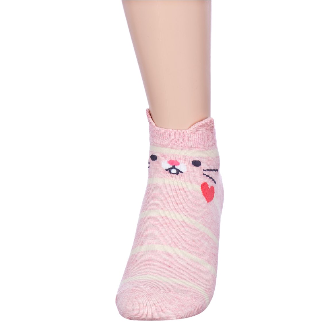 Fall in Love Animal Charater Casual Sneakers Socks (Onesize, 5 Pairs) by Dani's Choice (Image #4)