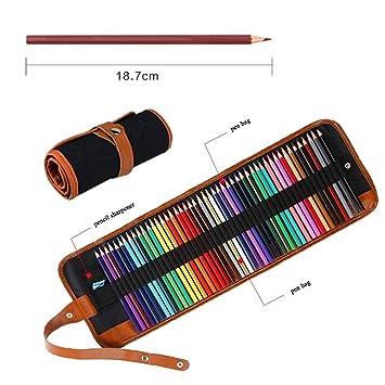 Juego de 50 lápices de colores para colorear, lápices de ...