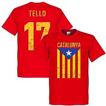 Tello Vintage de Catalunya camiseta de fútbol, color rojo Rojo rojo: Amazon.es: Deportes y aire libre