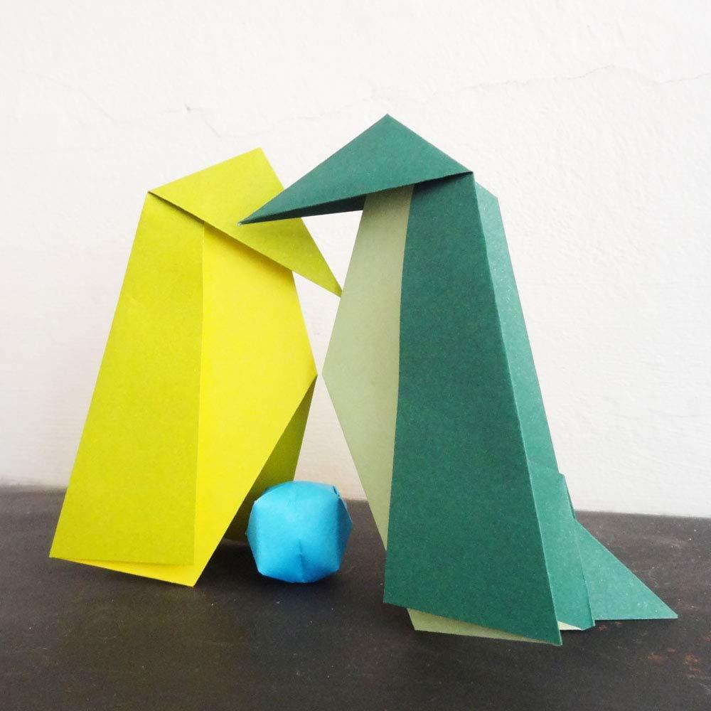 Folded Square Origami - Conjunto de Regalo de Papel para Papiroflexia, 100 Hojas, 15cm Cuadrado, Colección de Colores Complementarios: Amazon.es: Oficina y ...