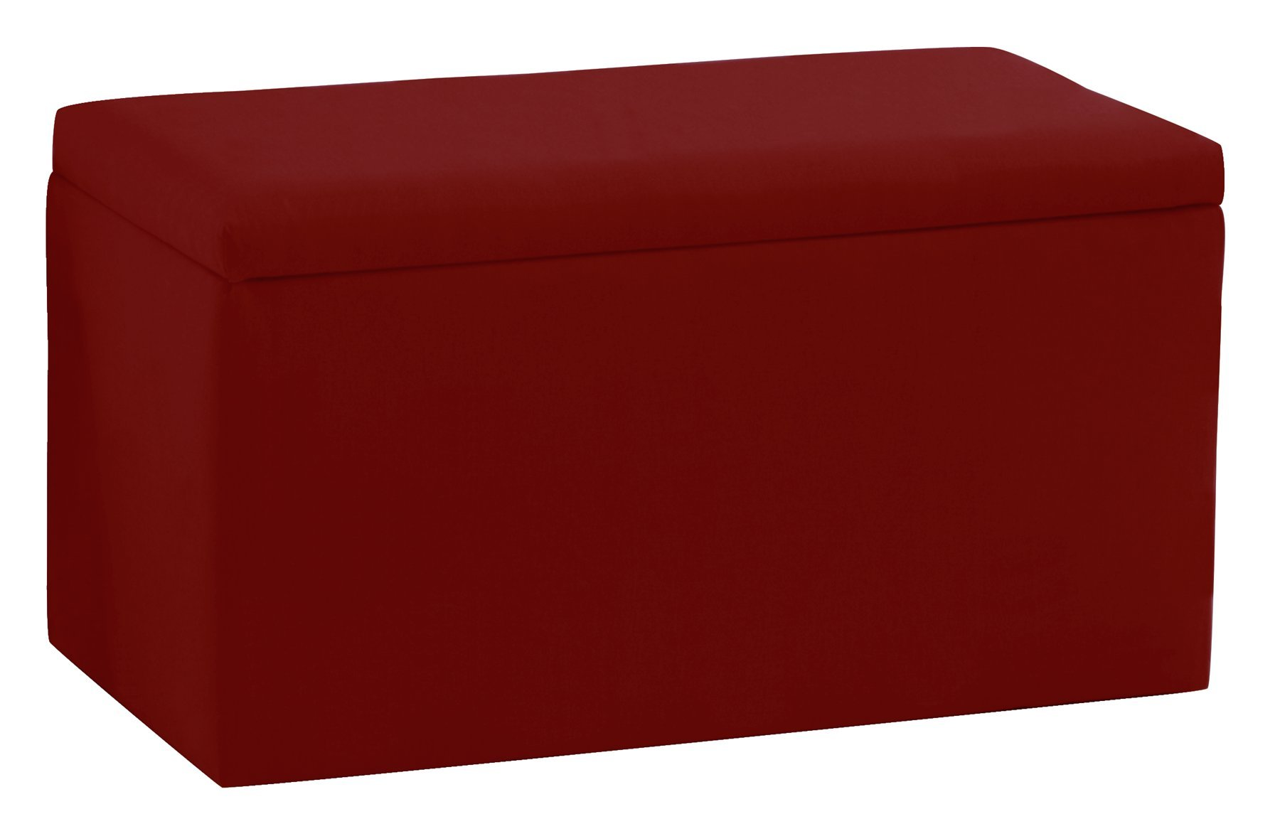 Skyline Furniture Smarty Pants Kid'S Storage Bench By In Cardinal Red Cotton