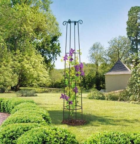 Nortene Support décoratif Obelisk 2 m: Amazon.fr: Jardin