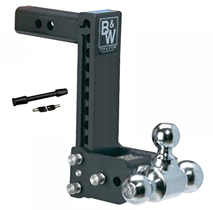Adjustable Hitch Receiver >> Amazon Com B W Hitches Ts10050b Tow Stow 9 9 5 Adjustable Tri