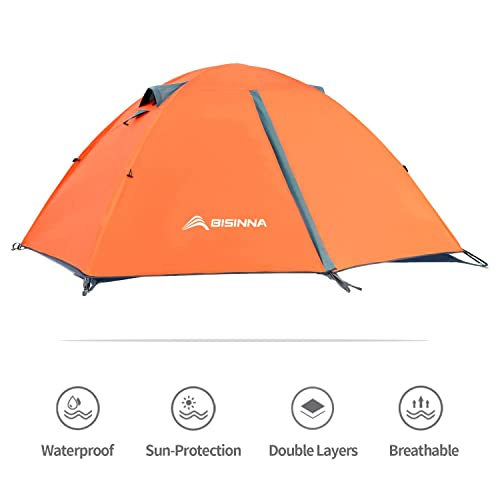 BISINNA 2 Person Camping Tent Lightweight Backpacking Tent
