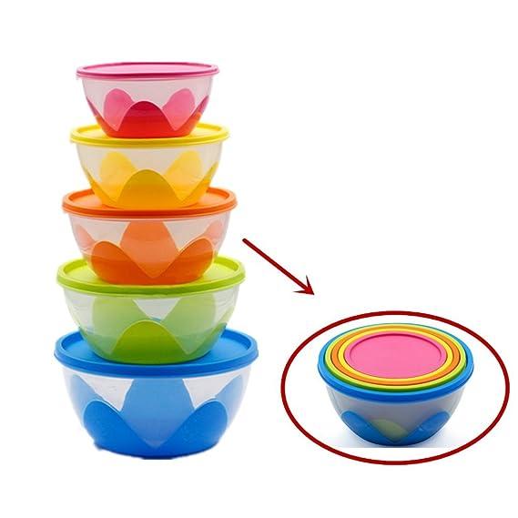 Ronda de almacenamiento de alimentos tazones, Ji velocidad Set de ...
