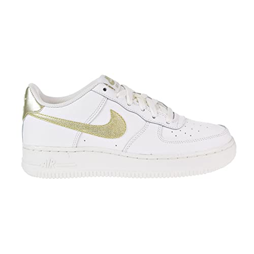Nike Air Force 1 (GS), Scarpe da Basket Donna, Bianco Mtlc ...