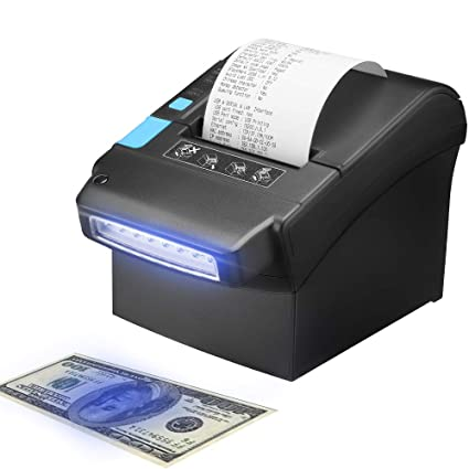 Thermal Printer with US Dollar Currency Money Detector, MUNBYN 80MM Pos  Receipt Printer with USB LAN Serial Port for Home Business, Reception,  Hotel,
