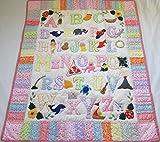 Hawaiian quilt Noah's Ark crib baby comforter blanket hand quilted/wall hanging
