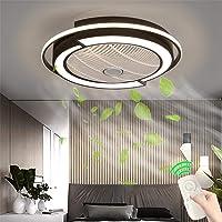Onzichtbare ventilator plafondventilator met afstandsbediening, led-licht, instelbare windsnelheid, dimbaar, moderne…