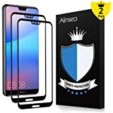 Alinsea P20 Lite Screen Protector [Full Coverage, Case Friendly] Tempered Glass [2 PACK] [Lifetime Replacement Warranty] [No Peeling off] [Full Adhesive] 9H Film for Huawei P20 Lite/Nova 3e 5.8