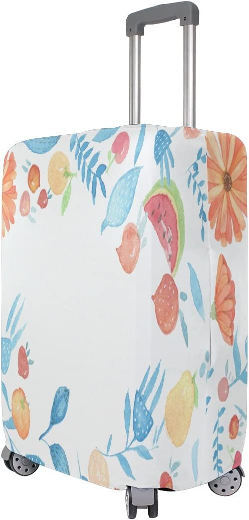 OREZI 3D Light Watercolor Flower Circle Luggage Protector Suitcase Cover 18-32 Inch