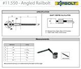 Zipbolt 11.560 Angled Railbolt - Connects Angled