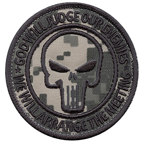 (LEGEEON God Will Judge Our Enemies ACU Subdued US Navy Seals DEVGRU NSWDG Morale Touch Fastener Patch)