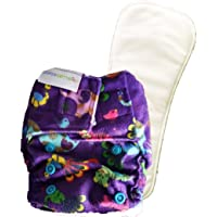 Superbottoms Newborn Cloth Diapers with 1 Dry Feel Soaker (Purple Love)