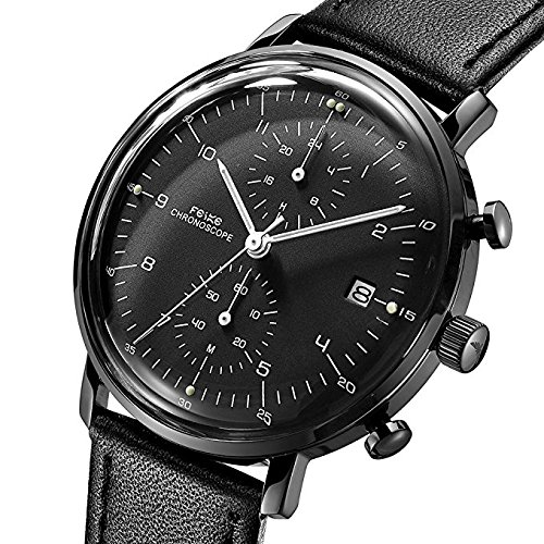 FEICE Quartz Watch Men's Analog Wrist Watch Stainless Steel Leathers...