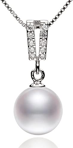 CS-DB Jewelry Silver Pearl White Chain Charm Pendants Necklaces