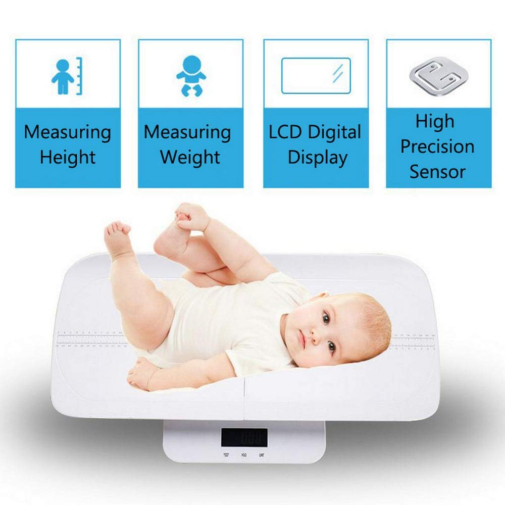KG//OZ//LB Length 60cm Multifunction Digital Baby Scale -Measure Baby//Adult Weight Accurate Capacity with Precision of 10g