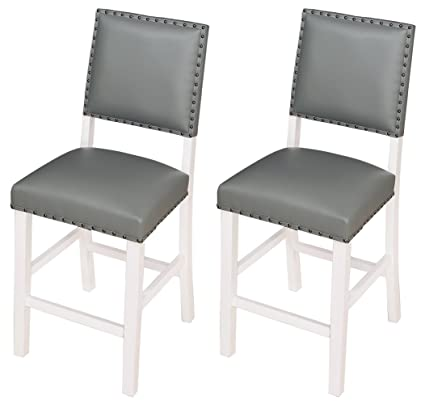 Amazon Com Angel Line 41418 21 Kirkland Bar Stools White Gray