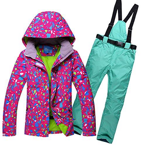 DYF La Mujer Traje Chaqueta de esquí Abrigo Impermeable Espesado Caliente Subir: Amazon.es: Ropa y accesorios
